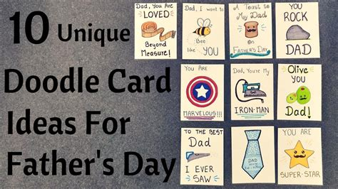 Number a is my credit card number. DIY Father's Day Pun Doodle Cards || Birthday Cards For Dad - YouTube