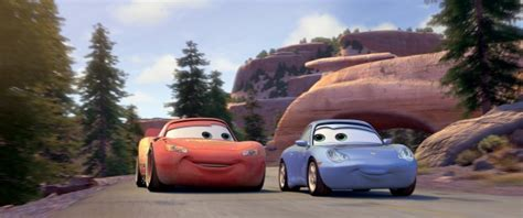 cars sally and lightning mcqueen disney pixar 39 s cars movie review