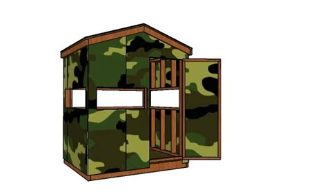 deer blind plans myoutdoorplans  woodworking