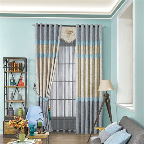 blue yellow curtains blue yellow curtain cloth living room bedroom modern