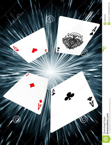 playing cards flying aces background royalty  stock