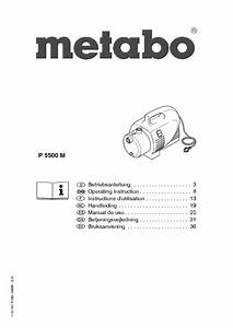 Pump P 5500 M Manuals