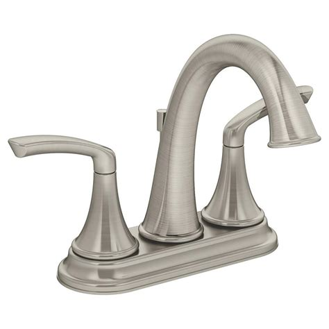 Symmons Faucets Home Depot by Symmons Elm 4 In 2 Handle Lavatory Faucet In Satin Nickel