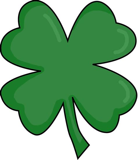 four leaf clover picture of a four leaf clover clipart best