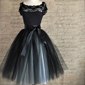 Tuto Tutu Tulle : tulle tutu skirt for women in black and silver ballerina ~ Dode.kayakingforconservation.com Idées de Décoration