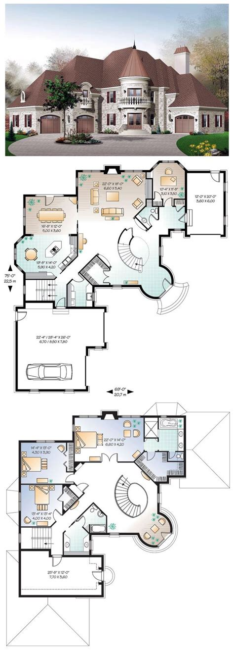 house plans with turrets house plan 65361 the roof garage bedroom and