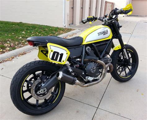 Ducati Scrambler Icon Modification by Ducati Scrambler Flat Track Pro Srmoto Wr250r