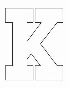 letter k pattern use the printable outline for crafts With letter cut outs design