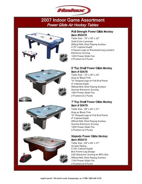 air hockey table dimensions binder1
