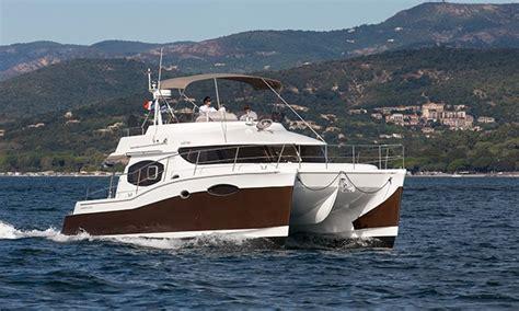 Catamaran Vs Boat by Fountaine Pajot Summerland 40 Trawler And Catamaran In