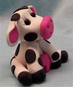 simple+polymer+clay+animals | Cute Little Cow Polymer Clay ...