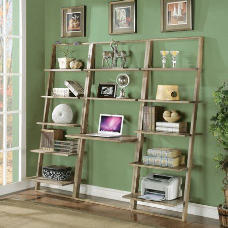 Leaning Desk Bookcase by Riverside Lean Living Leaning Desk With Bookcases