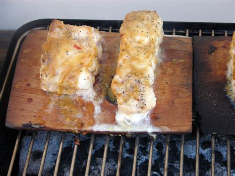 grouper miso planked glazed cedar maple grill recipes recipe glaze basting twice firm brush covered until minutes touch fish another