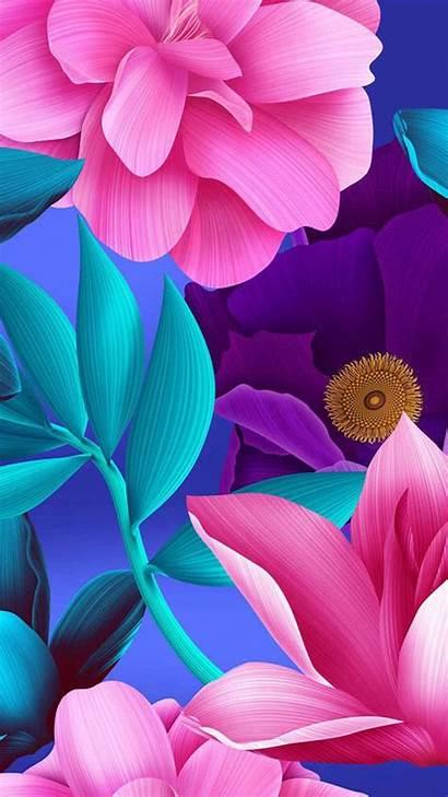 Pink Flowers Screen Purple Iphone Phone Wallpapers