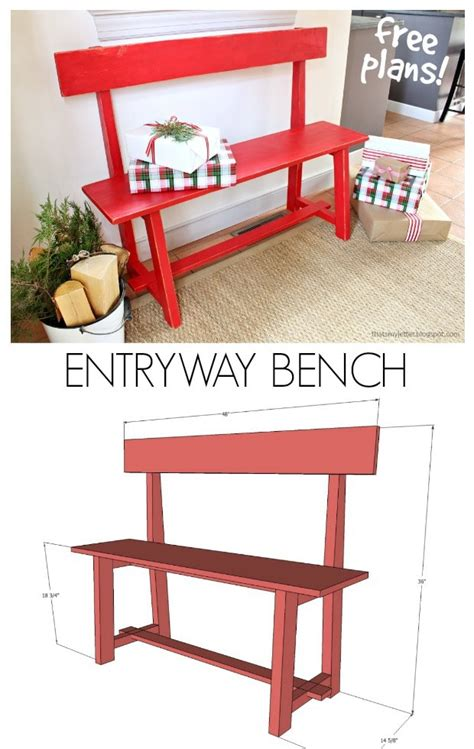 entryway bench  plans ryobi tools giveaway jaime