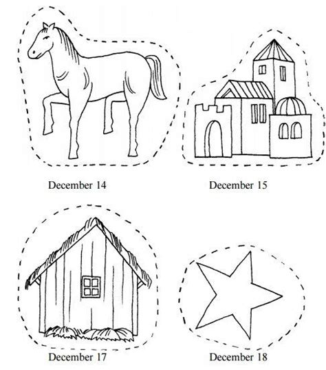 printable nativity advent chain allfreechristmascraftscom
