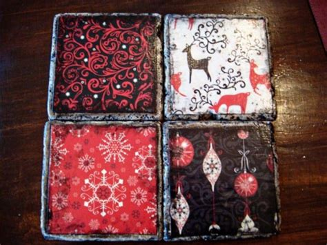 ideas   cool christmas coasters shelterness