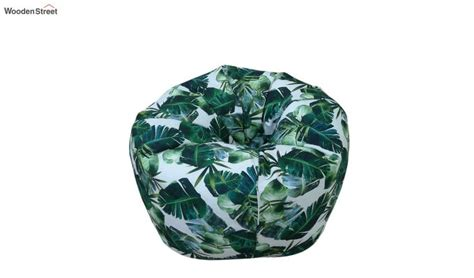 buy tropical leaf print organic cotton bean bag cover