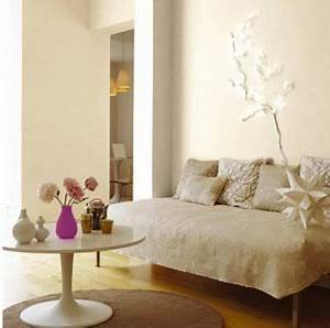 Blanc Cassé Peinture : 16 id es avec la couleur lin pour le salon couleurs murs ~ Melissatoandfro.com Idées de Décoration