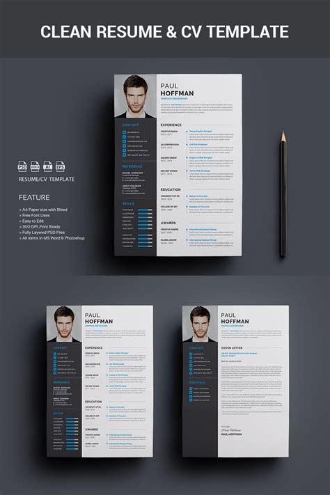 premium resumecv paul hoffman resume template