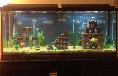 retrofied super mario lego aquarium decorations bit rebels