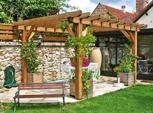 Abri De Jardin Avec Pergola : pergolas bois cerisier abris de jardin en ~ Dailycaller-alerts.com Idées de Décoration