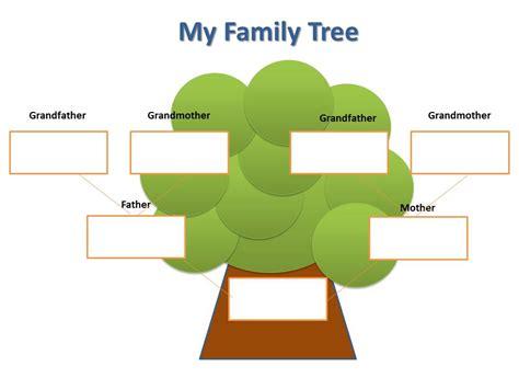 blank family tree  kids clipart