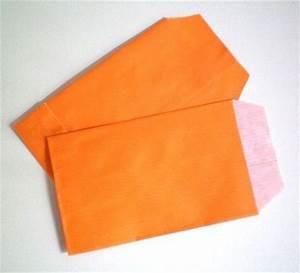 Pochette Cadeau Papier : pochettes papier cadeau mandarine ~ Teatrodelosmanantiales.com Idées de Décoration