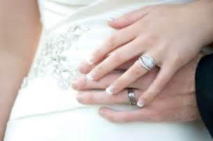twisted engagement ring with wedding band wedding rings
