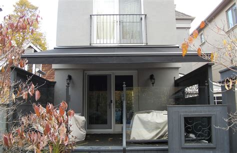 modern black  grey rolltec retractable awnings