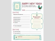 Printable New Year's Resolution Template Scholastic