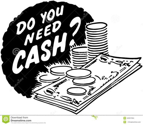 Do You Need Cash? Stock Vector Image Of Credit, Cash