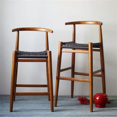 Modern Kitchen Bar Counter Stools For Sale by Breathtaking Wooden Counter Stool With Wicker Rope Stool