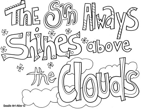 Coloring Quote Pics by Attitude Quote Coloring Pages Doodle Alley