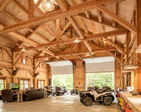 Houses and Barns   Maine Mountainside Timber Frame Barn