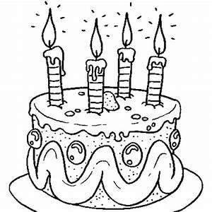 Dessin Gateau Anniversaire : coloriage 4 ans en ligne gratuit imprimer ~ Melissatoandfro.com Idées de Décoration