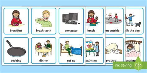 visual timetable  home teacher