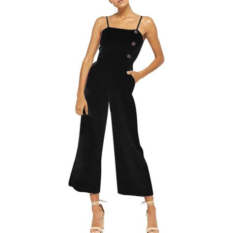 Sleeveless Overall womail fashion comfortable sleeveless button