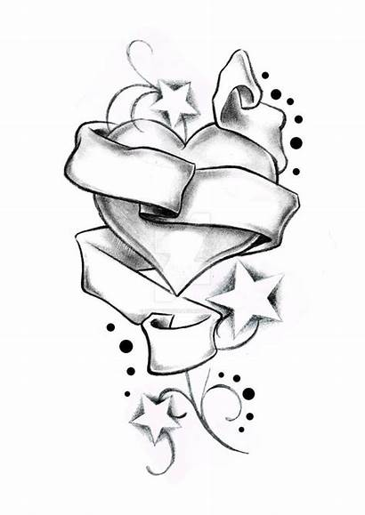 Heart Lowrider Banner Stars Tattoo Drawings Deviantart