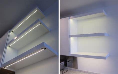 kitchen shelf led lighting inspired led contemporary