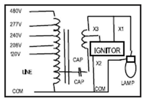 Wiring Diagram For High Bay Light by 250 W High Pressure Sodium Ballast Kit Keystone Hps 250a P