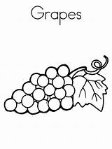 Coloring Pages Grape Fruits Grapes Colors Recommended sketch template