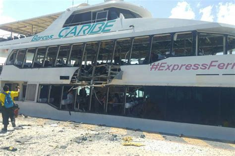 Ferry Boat Bomb In Mexico playa ferry explosion horror blast at mexico