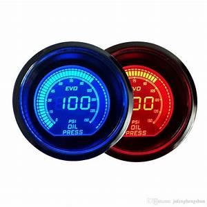 2019 Hot 2 Inch 52mm Oil Pressure Gauge 12v Blue  U0026 Red Led