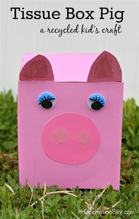 tissue box farm animals  recycled project