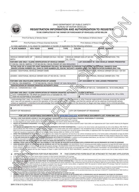 ohio bureau of motor vehicles power attorney form caferacer 1firts