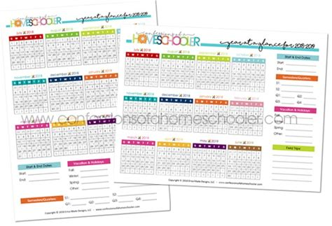 year glance calendar printable confessions