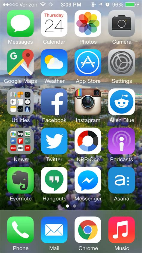 iphone home page the apps and homescreens of top marketers