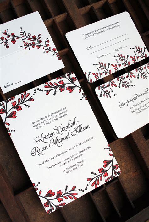 kristen ryans red  black  years eve wedding