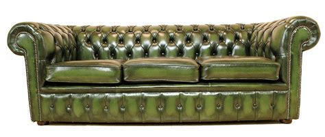 money green leather sofa one big chesterfield sofa modern and conventional